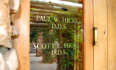 glass door with dentists' names
