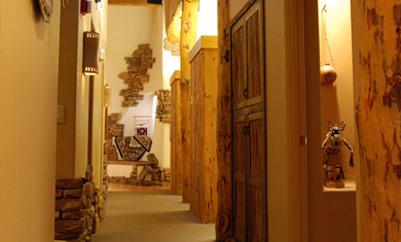 hallway with several doors