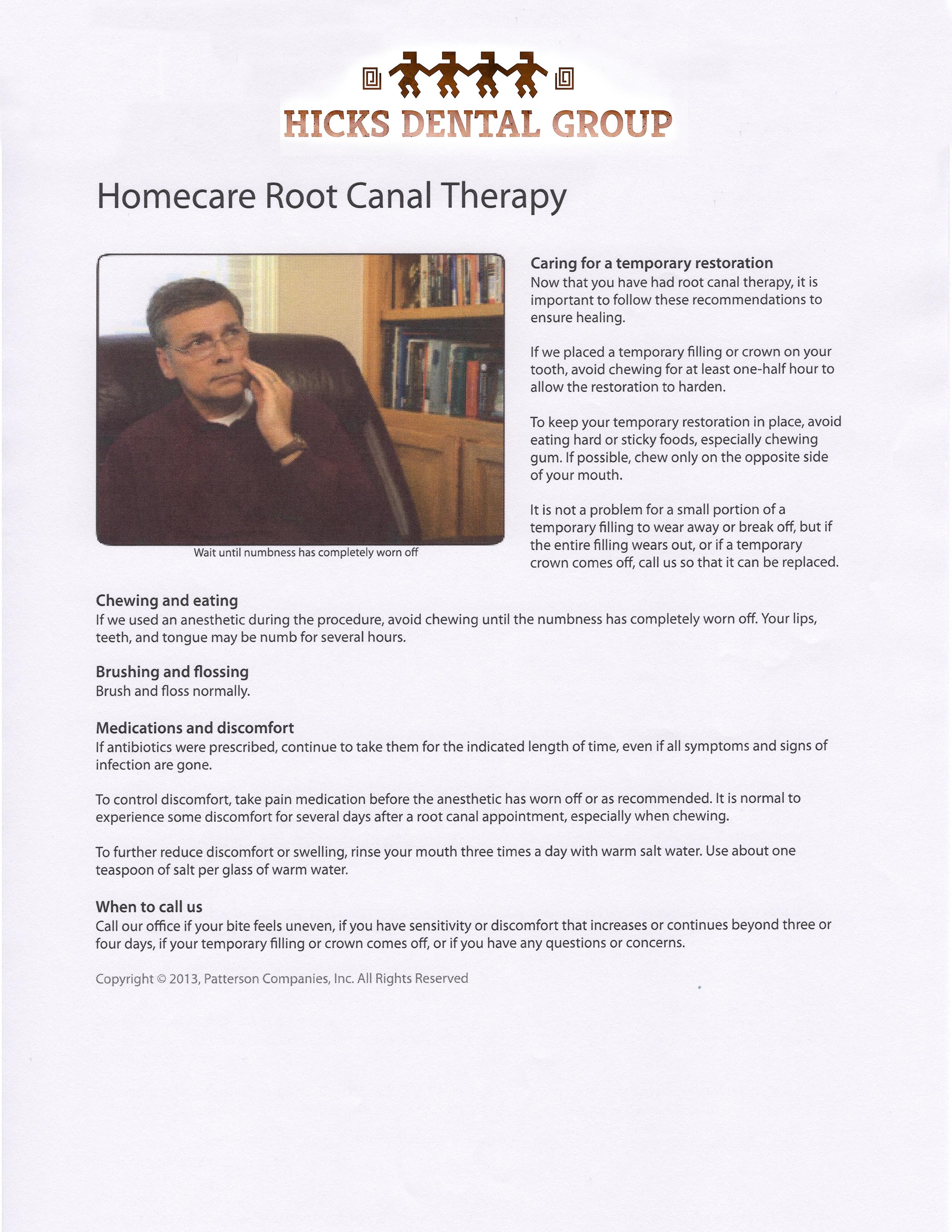 Patient Information Hicks Dental Group | FAQ | Prescott Dental Tips